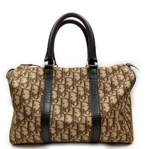 Christian Dior Hand Bag  Browns Canvas